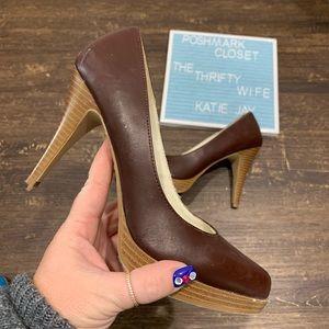 Mossimo Brown Platform Heels Women's Size 8.5